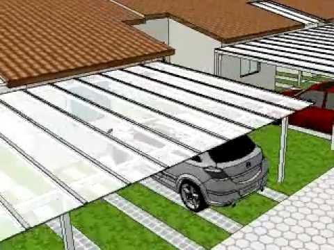 Cobertura de  Policarbonato  para  2 carros