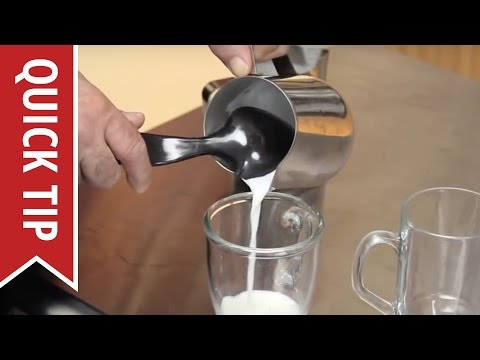 How To Make A Cappuccino Or Latte Steaming and Frothing Milk