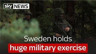 Sweden holds huge military exercise - SKYNEWS