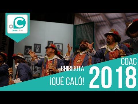 Sesión de Preliminares, la agrupación ¡Qué caló! actúa hoy en la modalidad de Chirigotas.