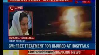 Harsimrat Kaur Badal condemns Amritsar train accident, says the incident needs to be probed - NEWSXLIVE