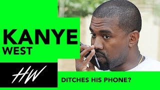 Has Kanye Ditches this Phone?! - HOLLYWIRETV