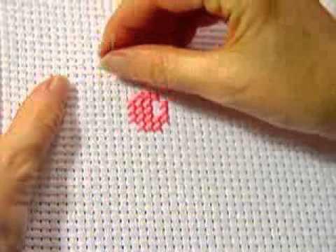 начало вышивки крестом