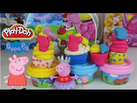 Plastilina Play-Doh Cupcakes de La Cerdita Peppa  |Video De Peppa Pig en Español