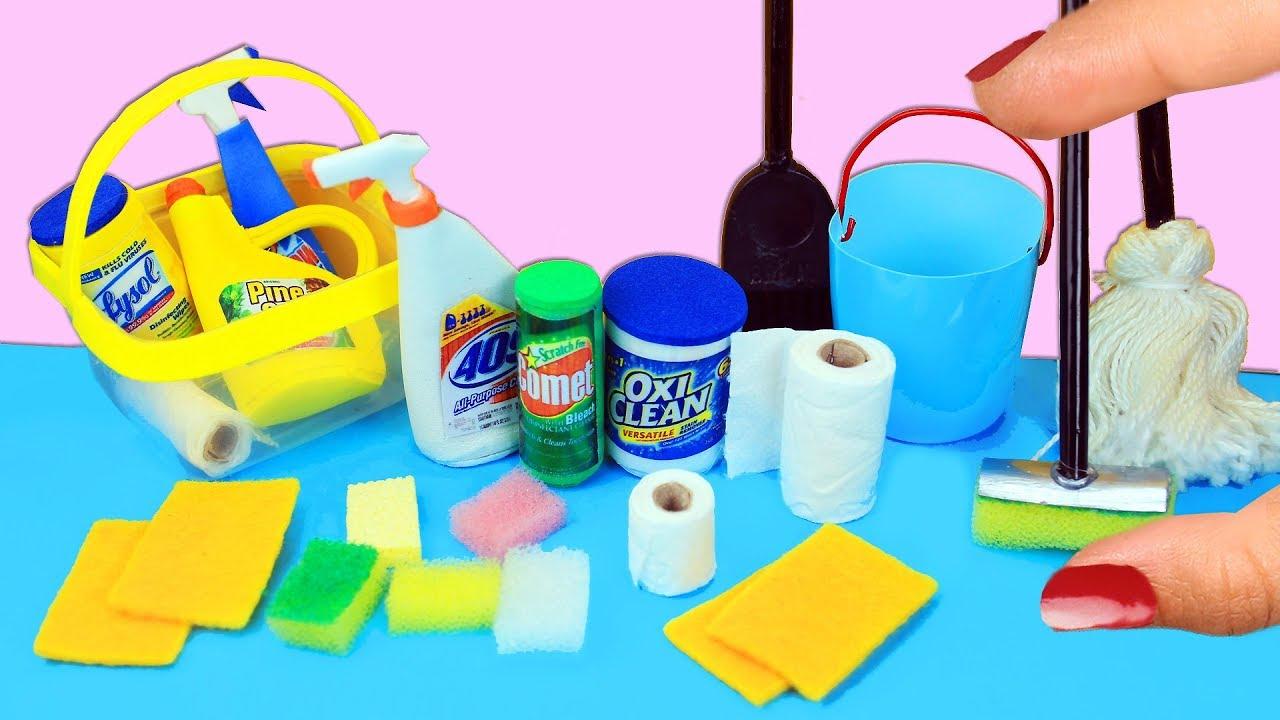 6c21a99bfd77 Cómo Hacer Cosas de Limpieza en Miniatura que si Funcionan  PLANTILLA  1