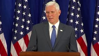 Mike Pence Full Press Conference: Thanks Pres. Obama, VP Biden | ABC News - ABCNEWS