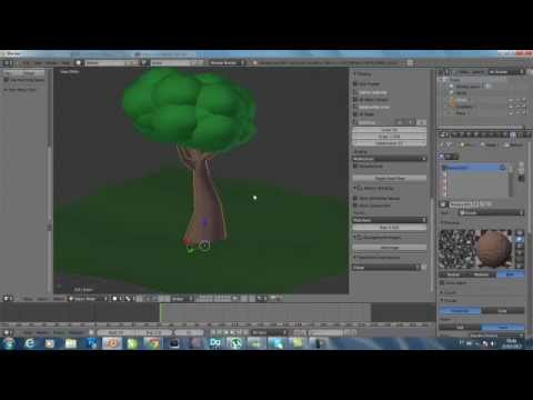 video aula criando com o blender 2.62 - modelando e texturisando uma arvore cartoon