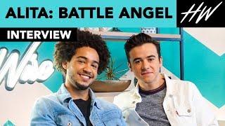 Alita: Battle Angel stars Keean Johnson and Jorge Lendeborg Jr. Reveal Their Celeb Crush | Hollywire - HOLLYWIRETV