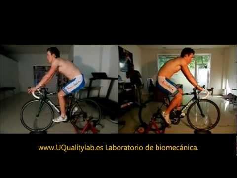 Estudio Biomecánico del ciclismo a Fran Medina Abril. UQualitylab Laboratorio de Biomecánica