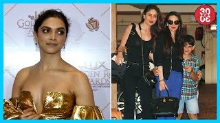 Deepika Skips Red Carpet Due To Security Reasons | Kareena, Karisma Spotted Outside Their Apartment - ZOOMDEKHO