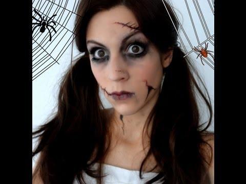 Maquillage d'Halloween : poupée démoniaque