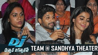 DJ Duvvada Jagannadham Team Watches Dj Movie @ Sandhya Theater | TFPC - TFPC