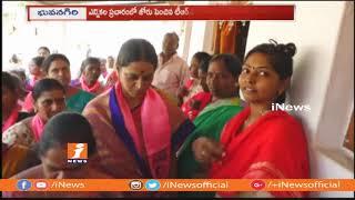 TRS Leader Paila Shekar Reddy Wife Vanitha Election Campaign In Bhongir | iNews - INEWS