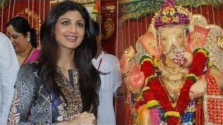 Shilpa Shetty At Andheri Cha Raja Ganpati Darshan - THECINECURRY