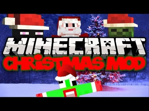 Minecraft: CHRISTMAS MOD! (Christmas Trees, Ordaments, Foods, & MORE!) | Mod Showcase