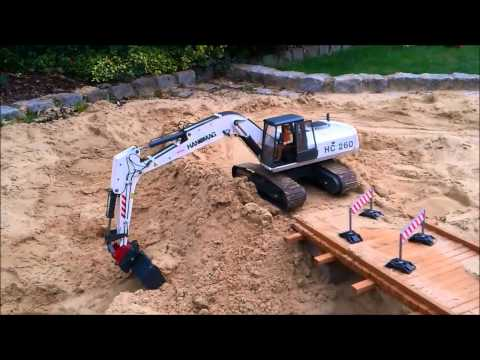 Bridge Construction Side Part 2 RC Construction Machines (Excavator / Dump Truck etc)