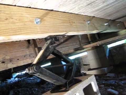 fixing sagging  and rotten floor joists