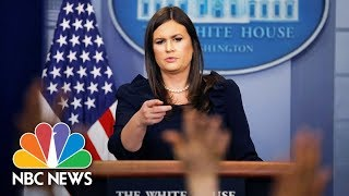 Watch Live: White House Press Briefing - October 18, 2017 - NBCNEWS