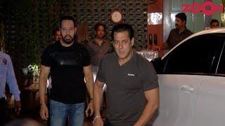 Salman Khan's Grand Entry At Arpita-Ayush's Eid Party - ZOOMDEKHO