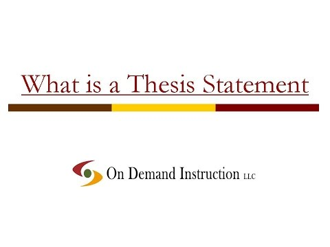 thesis statement helps shape essay