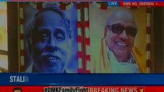 DMK MLAs at the party meet today have backed Stalin as their leader after Karuna - NEWSXLIVE