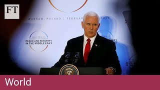 Mike Pence urges EU to withdraw from Iran nuclear deal - FINANCIALTIMESVIDEOS