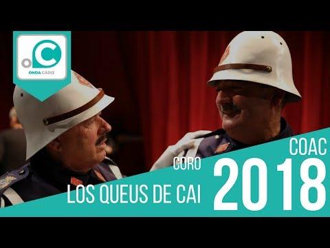 La agrupación Los queus de Cai llega al COAC 2018 en la modalidad de Coros. En años anteriores (2017) concursaron en el Teatro Falla como Arría la carná, consiguiendo una clasificación en el concurso de Cuartos de final.