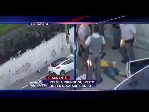 Helicóptero da Band flagra perseguição 05/04/2014