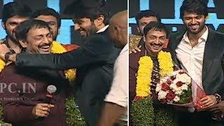 Vijay Devara Konda Making Fun With Producer Raj Kandukuri @ Mental Madhilo Pre Release Event | TFPC - TFPC