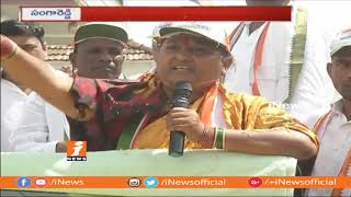 Congress Leader Jagga Reddy Wife Nirmala Election Campaign In Sangareddy | iNews - INEWS