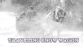 Royalty FreeBackground:Traveling Snow Wagon
