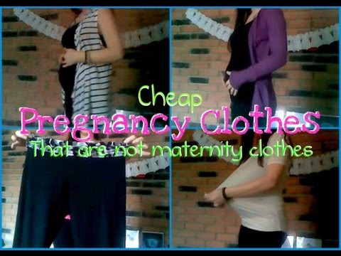 Cheap Clothes for Pregnant Ladies That Aren't Maternity Clothes Part 1
