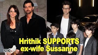Hrithik extends SUPPORT to ex-wife Sussanne - IANSLIVE