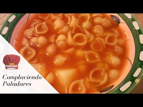 Sopa de conchitas -sopa aguada (Complaciendo Paladares)