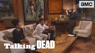 'Thriller Choreography w/ the Walkers?' Fan Questions  Ep. 906 | Talking Dead - AMC