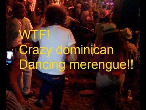 Crazy dominican dancing merengue in Colonial Zone