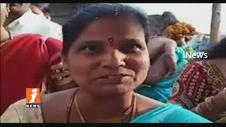 Heavy Rush Of Devotees At Yadadri Sri laxmi Narasimha Swamy Temple | iNews - INEWS