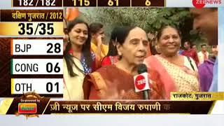 Gujarat CM Vijay Rupani's family arrive to vote for Gujarat election phase 1 - ZEENEWS