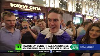 Ecstatic Moscow belts out 'Katuysha' as Russia closes in on World Cup knock-out stages - RUSSIATODAY