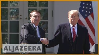 🇺🇸 🇧🇷 Trump says strongly considering NATO privileges for Brazil | Al Jazeera English - ALJAZEERAENGLISH