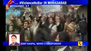 Lawyers go on rampage in Moradabad - NEWSXLIVE