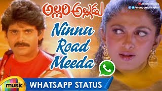 Ninnu Road Meeda Song WhatsApp Status Video | Allari Alludu Songs | Nagarjuna | Ramya Krishna - MANGOMUSIC