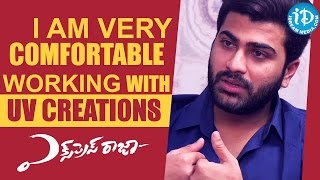 I Am Very Comfortable Working With UV Creations - Sharwanand || Talking Movies with iDream - IDREAMMOVIES