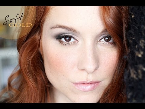 Maquillage de fêtes #2 / Holiday party makeup : Soft Gold