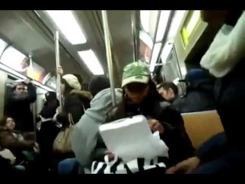 A Fight Starts Over Spaghetti On NYC Subway