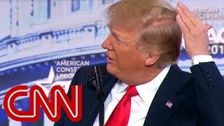 Donald Trump: I try like hell to hide that bald spot - CNN