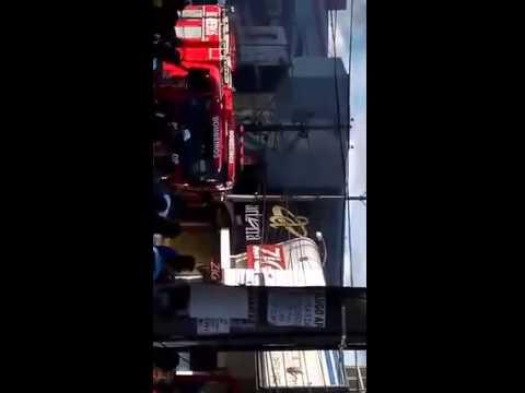 Loja pega fogo no centro da cidade de Feira de Santana
