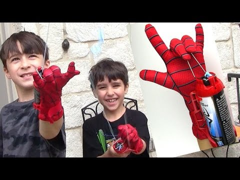 Robert-Andre'S and William-Haik's The Amazing Spider-man 2 Mega Blaster Web Shooter with Glove!