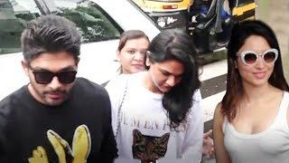Allu Arjun With His Wife Sneha Reddy & Tamannah Bhatia Spotted In Mumbai - RAJSHRITELUGU