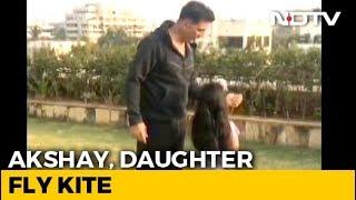 Akshay Kumar Flies A Kite With Daughter Nitara On Makar Sankranti - NDTV